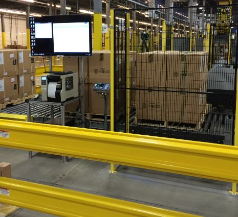 Full Pallet Conveyor System for Order Fulfillment - MMCI Robotics, robotic palletizer, robotic palletization, robotic palletizing system, robotic palletizers, robotic palletizing arm, palletizier, automatic palletizer, palletization