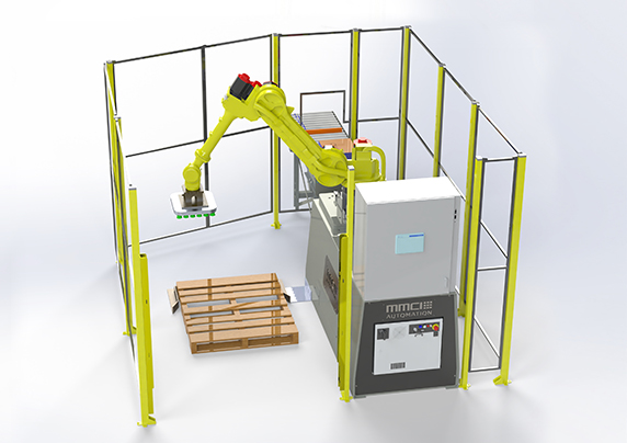 QSP-100, quick ship palletizer, quick ship robotic palletizer, quick ship robotic palletizing, robotic palletizing