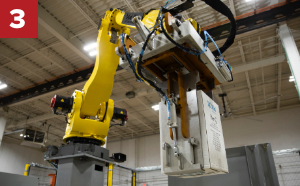 End of Arm Tooling, robotic palletizer, robotic palletization, robotic palletizing system, robotic palletizers, robotic palletizing arm, palletizier, automatic palletizer, palletization