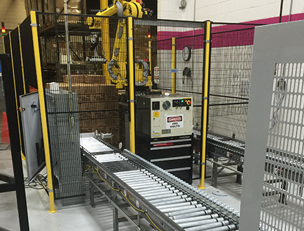 Small Footprint Robotic Palletizer