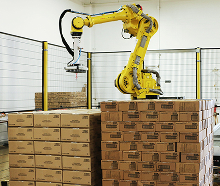 robotic case palletizing arm